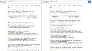 google testing extra white space in search results