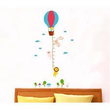 Hot Air Balloon Height Chart Wall Sticker