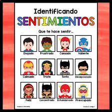 Spanish Feelings Chart Feelings Emotions Chart In Spanish Superhero Decor