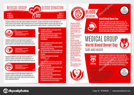 Informational Poster Sample Layout Blood Donation Medical Brochure Poster Template Stock