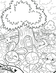 Small Picture Coloring Page Animal Crossing Coloring Pages Coloring Page and