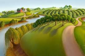 grant wood landscapes grant wood yes that grant wood american gothic john nash