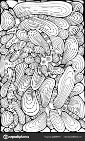 Fantasie Abstract Ornament Golvende Kleurplaat Pagina Stockvector