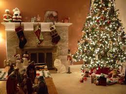 Xmas Living Room Decor Christmas Living Room Decor Beige Fireplace Hang White Socks