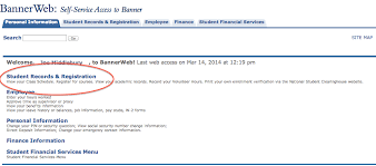 How Do I View My Class Schedule In Bannerweb Knowledge Base