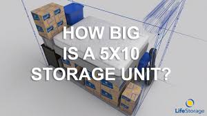 how big is a 5x10 storage unit life storage