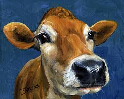 jersey cow painting sweet jersey cow by dottie dracos
