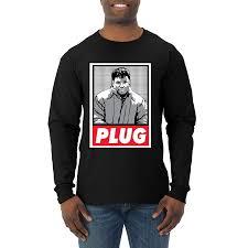 Free El Chapo Plug | Mens Long Sleeve T-Shirt – Wild Bobby