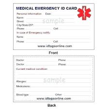 Card Uk Form Case Medic Emergency Medical Printable In Template Drivers Of Alert