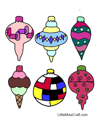 Small Picture Crafts Christmas Ornaments Coloring Page