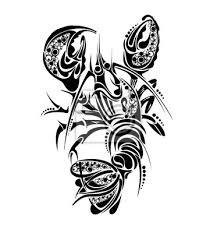 Plakát Znamení Zvěrokruhu Rakovina Tetování Design