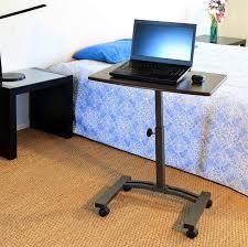 mobile laptop desk cart table stand portable computer rolling adjule office sevilleclassics