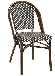 wicker bistro chairs. Modren Bistro BlackWhite Rattan Weave Bistro Aluminum Restaurant Chairs Beautiful  Durable High Quality Commercial Seating Throughout Wicker Chairs A