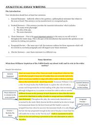 ytical essay writing