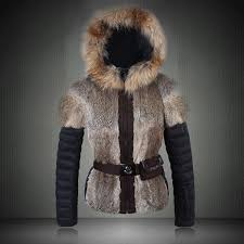 low cost qn23 2016 moncler gle jagerhorn luxury fur trim down jacket for women in brown