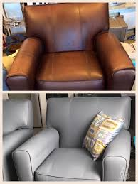 how to paint leather furniture. Wonderful Furniture I Painted Worn Faux Leather Chairs Wiped Down With Acetone The  Watered Acrylic Paint Mixed Chalklimestonecalcium Carbonate 10  Inside How To Paint Leather Furniture M