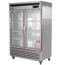 new turbo air 2 door glass refrigerator
