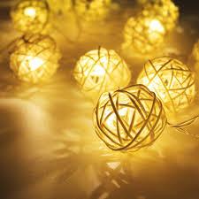 decorative string lighting. Amazon.com : Rattan String Lights, DecorNova 19.7 Feet 30 LED Battery Operated Globe Ball Lights With 3 AA Case \u0026 2 Lighting Modes For Decorative
