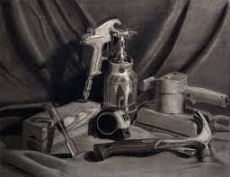 Image result for still life in charcoal