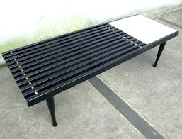 slatted wood bench slat bench a classic mid century slatted wood coffee table inspired by the