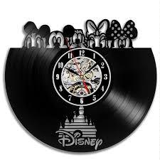 Beautiful Clock Designs Disney Record Vinyl Wall Clocks Many Beautiful Designs