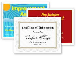 Free Online Printable Certificates Of Achievement Certificate Magic Free Certificate Generator Best Of All They Don