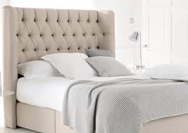 Bedroom: Comfy Padded Headboards For Your Bed Decoration ... & Beige Tufted Wing Back Padded Headboards Adamdwight.com