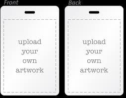 Printable Identification Card Custom Bi Fold Badges Add Text Logo Artwork Info