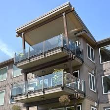 waterfront condo glass railing
