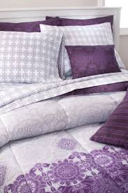 dress your bed in purple with our 10 piece reversible bedding set