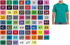 Gildan Color Chart 5000 T Shirts