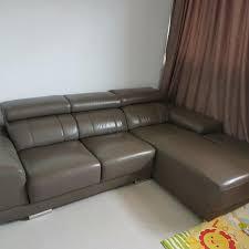 quality leather l shape sofa