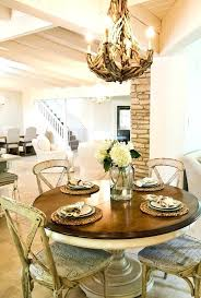 shabby chic kitchen table set round tables with style wall mirrors dining room and rustic chairs