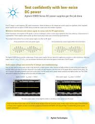Dc Power Supply Design Pdf Test Confidently With Low Noise Keysight E3600 Series