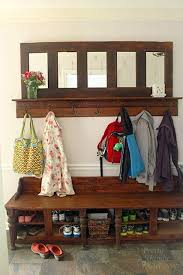 Hall Coat Rack Bench entryway coat rack and storage bench My Web Value 89