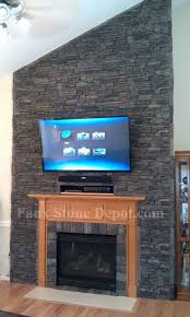faux stone for fireplace perfect fake stone fireplace