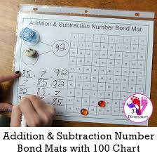 Addition Subtraction Number Bond Mats With 100 Chart 3