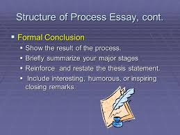 the process essay third lecture ppt video online structure of process essay cont