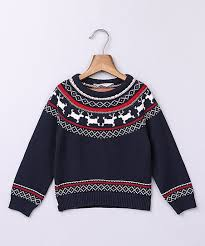 Beebay Size Chart Beebay Navy Red Fair Isle Reindeer Sweater Infant Toddler
