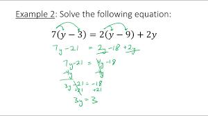 algebra 2 1 3 solve linear equations