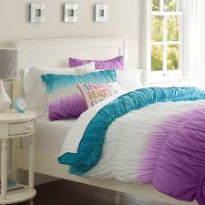 teen duvet cover. Awesome Surf Dip Dye Ruched Duvet Cover Sham Pbteen Within Teen Covers -