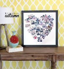 this heart photo collage is a great and novel gift idea for