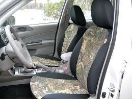 superfe camoflauge with neosupreme black sides subaru custom front seat covers