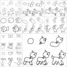 cute easy animal drawings step by step.  Easy To Cute Easy Animal Drawings Step By O