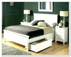 platform bed storage headboard white with double drawers Platform Bed Storage Headboard White With