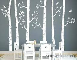 birch tree wall decals nursery wall decals white birch trees decal large tree mural ckers and birch tree wall decals  on silver birch wall art stickers with birch tree wall decals birch tree wall sticker family tree wall