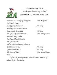 veterans day program at webster elementary school webster elementary veterans day program at webster elementary school
