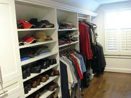 angled ceiling closet hanging shaker hutch and shelves with crown molding angled ceiling closet system closet