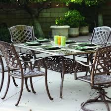 aluminum tables and chairs darlee sedona 6 person cast aluminum patio dining set antique