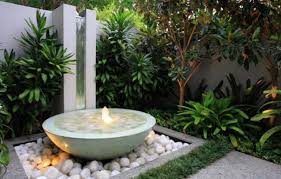 small submersible lights add drama to your water feature image sunset